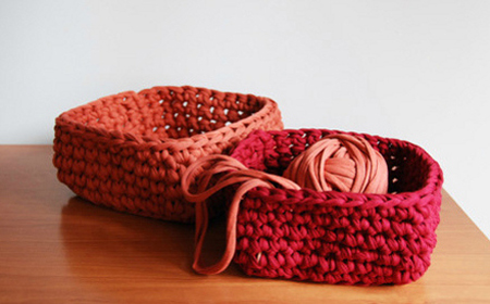 Scheme for T-Shirt yarn square basket