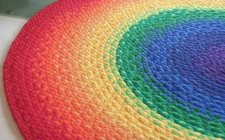 T-Shirt yarn braided rugs