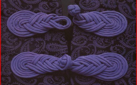 T-Shirt yarn brooch for kimonos