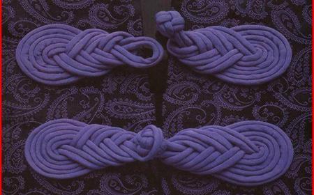T-Shirt yarn brooch for kimonos