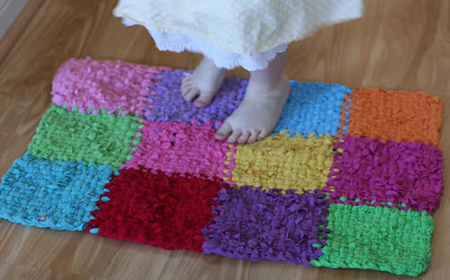Patchwork with T-shirt yarn rugs