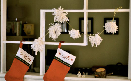 Ideas for T-shirt yarn Christmas decoration