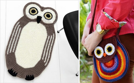 Lucky owls crochet schemes