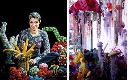 Crochet art and ecology coral reefs project
