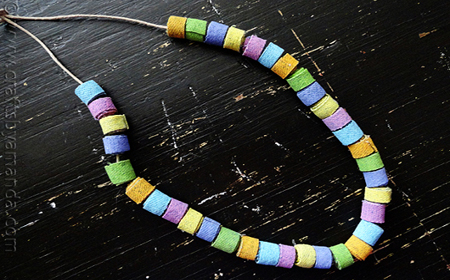 How to make textile beads