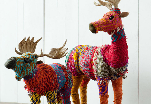 Art recycled Tshirt yarn animals