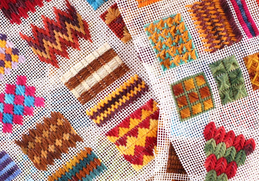 Stitches To Make T Shirt Yarn Rugs With A Grid T